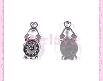 Set of 15 REF1460X3 silver clock charms