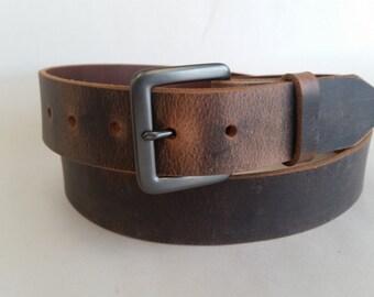 """1-1/4"""" Full Grain Water Buffalo Leather Belt"""