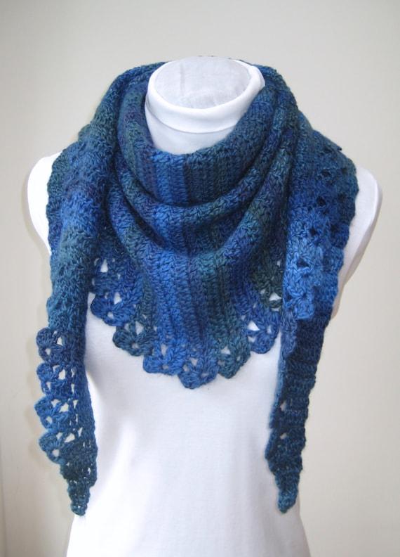 Crochet Scarf Pattern Shawl And Mitts Pdf Triangle Shawl Uk