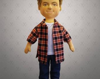 Giant Selfie doll - 60 cm tall doll, personalized doll, rag doll, art doll, custom doll, character doll,