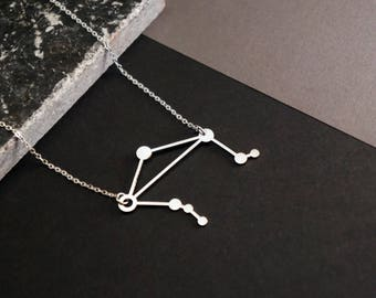 Libra Necklace | Zodiac Necklace | Birthday | September | October | Constellation Necklace | Astrology Necklace | Star Sign |  Horoscope
