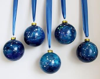 Konstellation Christbaumkugel Weihnachten Dekoration Keramik Christmas Ornament