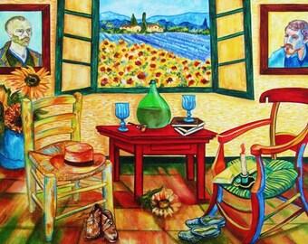 Print, van Gogh Print, Vincent van Gogh, Wall Art, Sunflowers Print, Still life Print, Home Decor