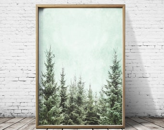 Forest Poster Forest Print  Nature Print  Plant Print  Printable Art Print Download