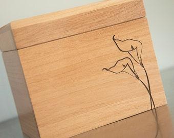 Recipe Box - Calla Lily