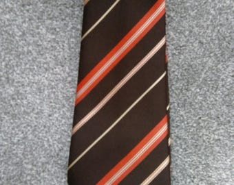 Vintage Polyester Men's Striped Tie Made By Prince