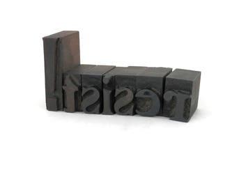 Antique Letterpress Resist! Wooden Block Letters Vintage Typography Letter Blocks