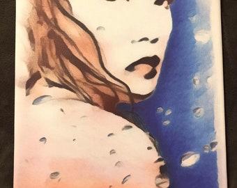Blue Angie (Print)