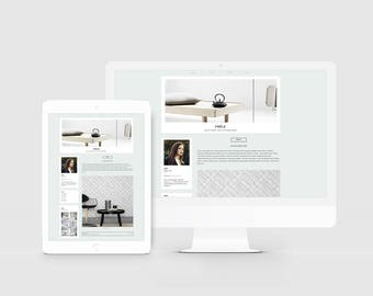 Blogger Theme + Slider — Responsive Blogger Template — Premade Blog Template for Photographer — Fashion Blog — Lifestyle Blog Design / Frele