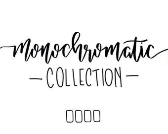 monochromatic collection // (4) 4 x 6 postcard prints