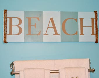 Beach Wooden Sign Wall Home Decor Nautical