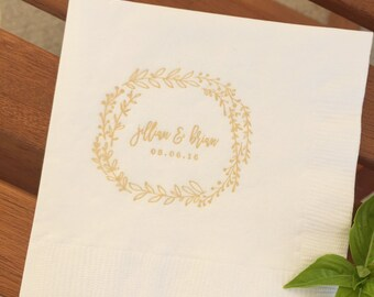 Bohemian Wreath Napkins