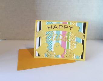 Happy Easter with Chicks  Card E102