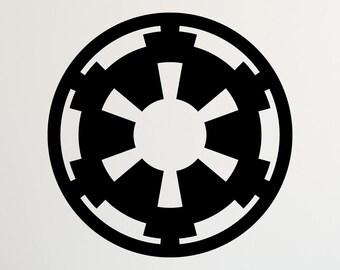 Star Wars Galactic Empire decal, star wars decal, star wars decor, star wars decorations, star wars wall decal, star wars wall decor, D00090