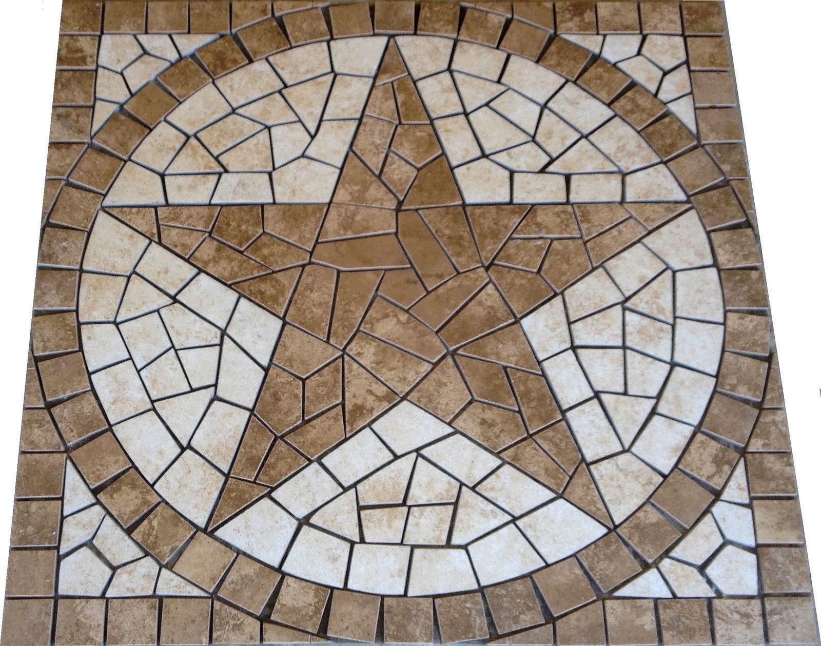 Square charro texas star mosaic porcelain tile medallion description square charro texas star mosaic porcelain tile medallion backsplash wall backsplash kitchen flooring dailygadgetfo Choice Image