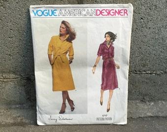 70's Jerry Silverman Vogue 1717 American Designer Pattern Misses' Dress - Size 12 Bust 34