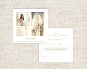 Minimal Photography Print Release Form - Wedding Photographer Print Release Template - Copyright Form for Photographers - INSTANT DOWNLOAD