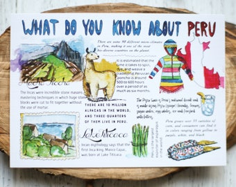"Postcard ""What do you know about Peru"""