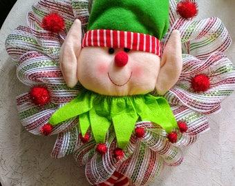 Holly Jolly Elf Wreath