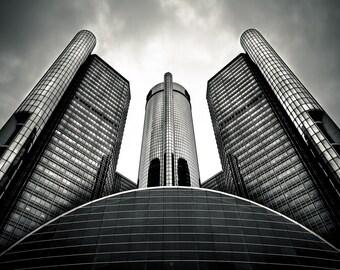 Lustre Print: GM Building-Gotham City Detroit