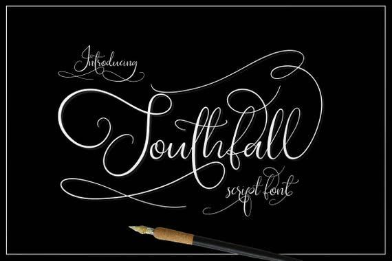 Calligraphy Font, Modern Calligraphy, Digital Fonts, Wedding Font, Invitation Font, Script Font, Digital Download, Southfall