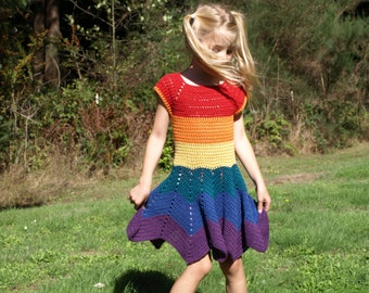 4T/5T  Cotton Rainbow Dress