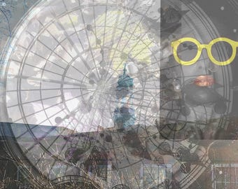 "Manipulated digital photograph- "" The Yellow glasses"""