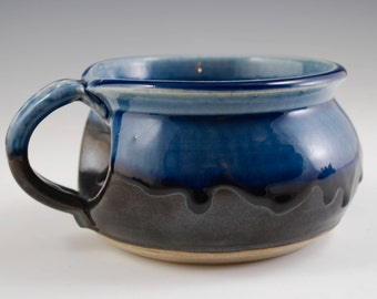Blue Ash and Black Soup Mug
