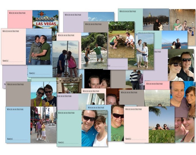 Personalized 52 Cards Wedding game post card games a year full of photogreetings