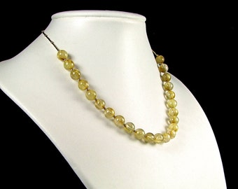 Rutilated Quartz on Gold Fill Necklace - N476