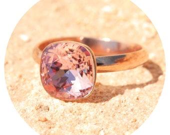 artjany ring vintage rose pink gold