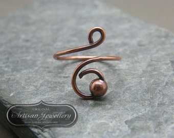 Simple adjustable ring ~ Spinner ring ~ Thumb ring ~ Copper ring ~ Adjustable ~ Minimalist ring ~ Fore finger ring ~ Simple ring for her ~