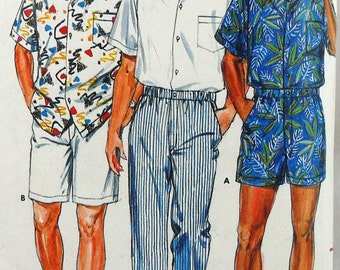Butterick 3777 shirt, shorts, and pants, chest 38-40