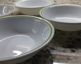 4 Strawberry Sundae Sauce Dishes by Corelle