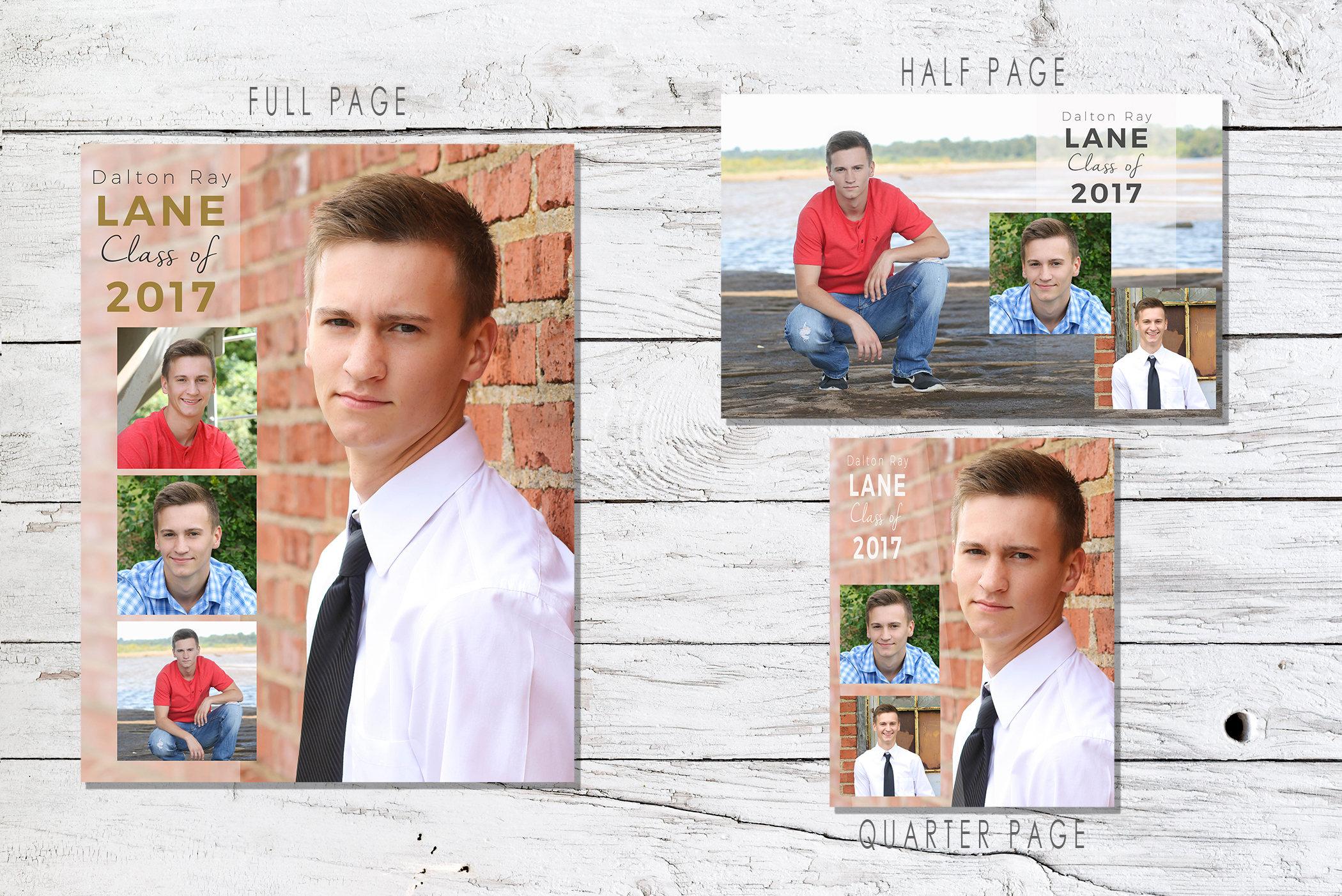 Senior Yearbook Ad Photoshop Template Graduation Immediate