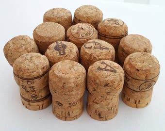 Packung mit 12 verwendet, Natur, Champagner Stil Korken
