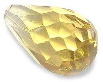 12mm x 7mm citrine briolette gem stone gemstone