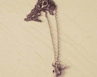 Buffalo head necklace / / gift for woman