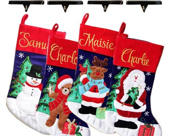 Personalised Traditional Stocking and Hanger Value Pack