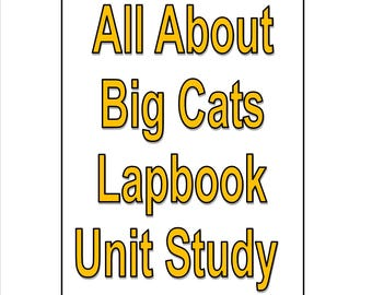 Big Cats Lapbook Unit Study for learning all about Large Cats