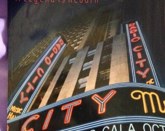 """Gorgeous Oversized Radio City Music Hall """"A Legend Is Reborn"""" book by Gail Greet Hannah Includes Curtain Swatch"""