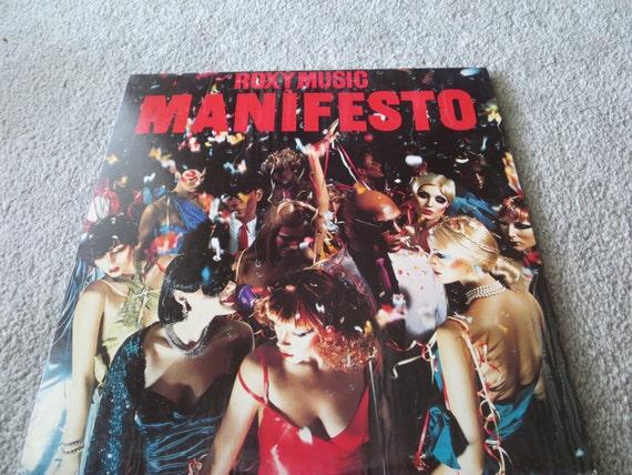 David Jones Personal Collection Record Album - Roxy Music - Manifesto