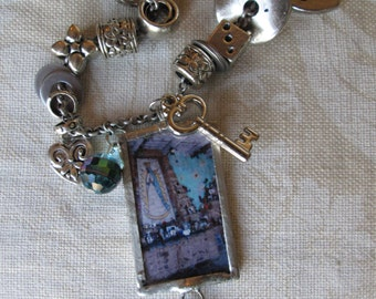 Silver Bead Necklace Tucson Southwest Charmed Vintage DEGRAZIA'S CHAPEL