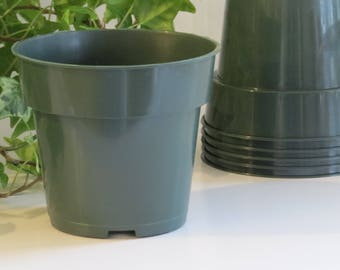 25 Plastic pots for plants, growing pots, garden supplies, spring ideas, nursery pots, gardening pot, planter pot, plant lover gift, planter