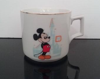 Vintage Disney World Mickey Mouse Mug - Made In Japan