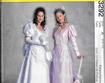 McCalls 3292 / P248 Victorian Dress Costume, Music Man, Mame, Hello Dolly Sewing Pattern UNCUT Size 6, 8, 10