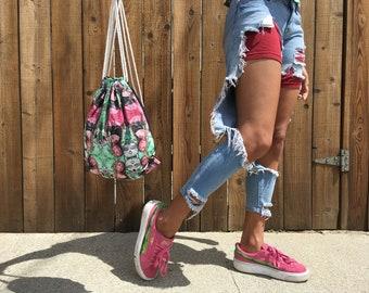 Soraya Graffiti Funkytown Drawstring Backpack