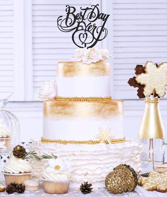 Best Day Ever, Best Day Ever Cake Topper, Wedding Cake Topper, Glitter Cake Topper, Cake Topper For Wedding, Wedding Decor