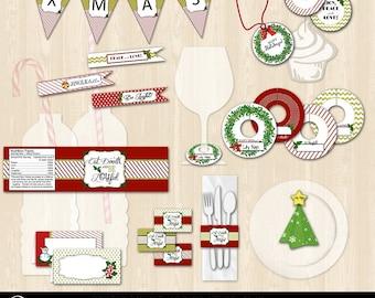 Christmas Table Setting Printable Bundle Package