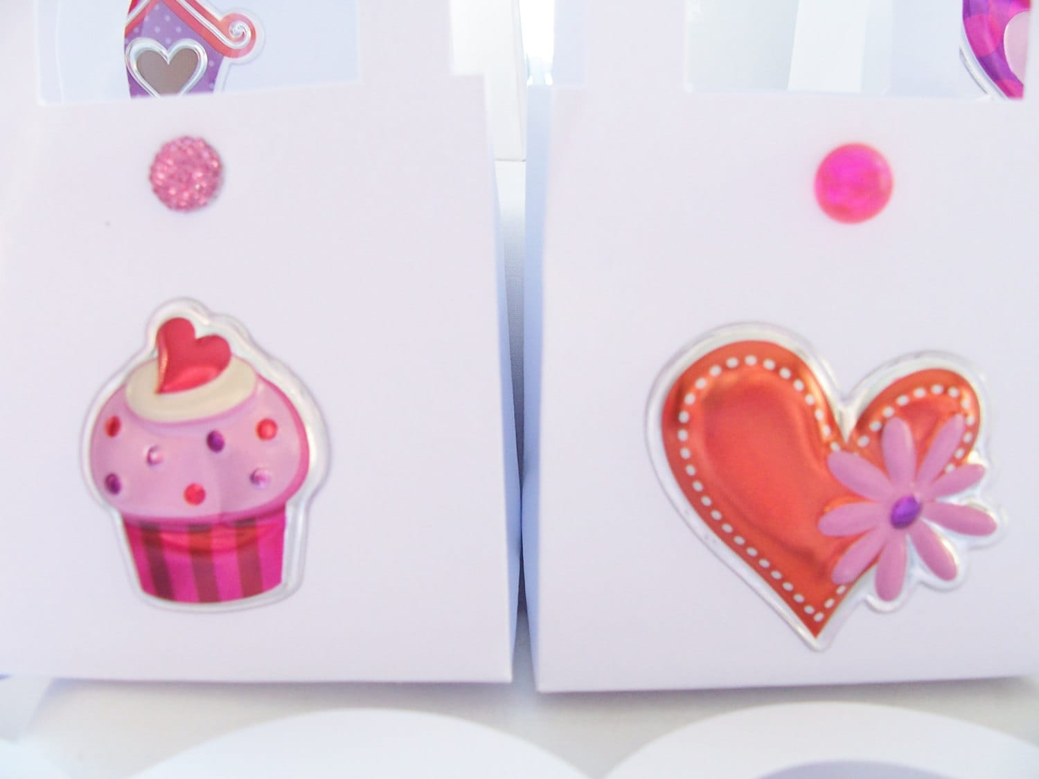 CLEARANCE - 17 Puffy heart favour boxes - Valentine/wedding/birthday ...